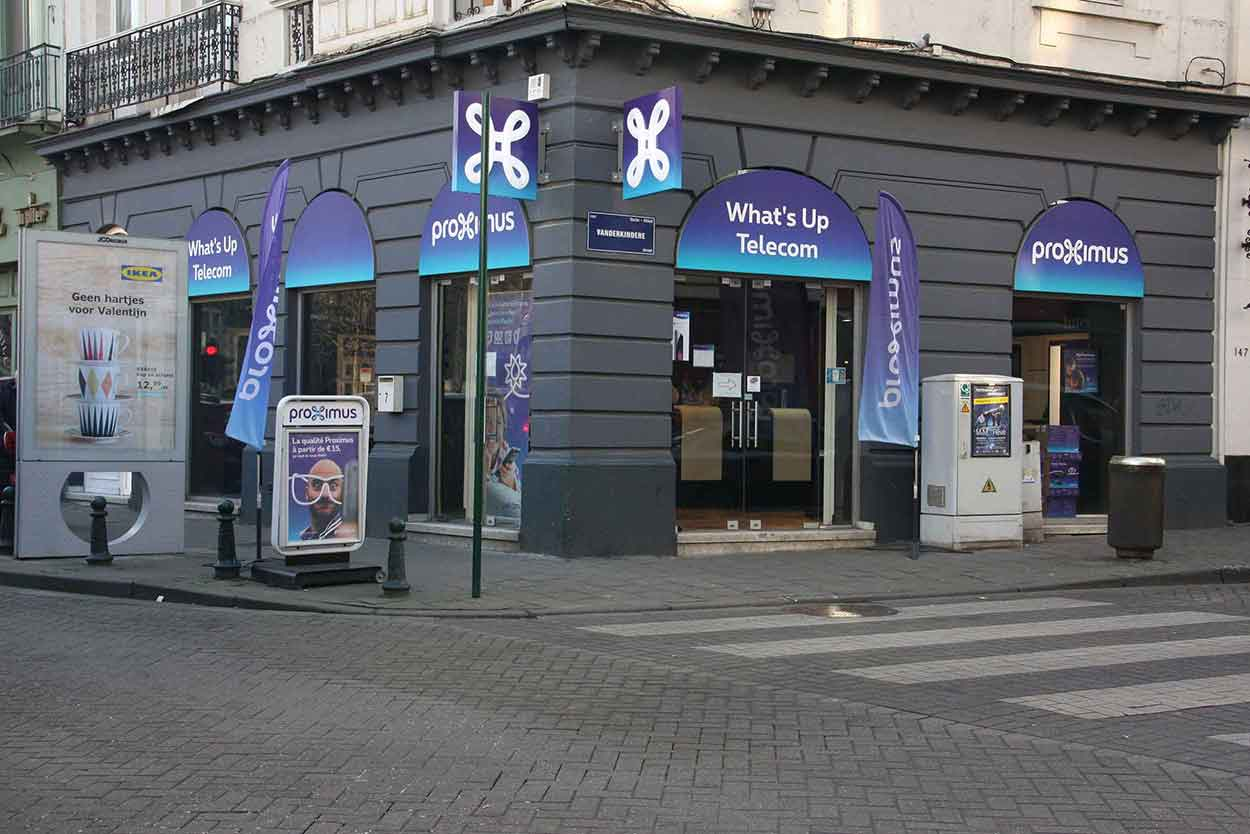 Proximus Center What's Up Telecom Place Vanderkindere 7 1180 Uccle